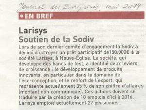 Journal des Entreprises mai 2014